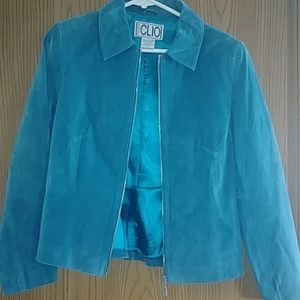 Suede Teal Jacket Size 4